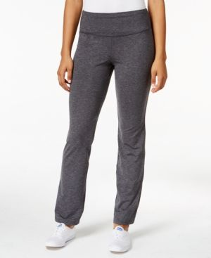 Style & Co. Melange Bootcut Yoga Pants, Only at Macy's - Black L