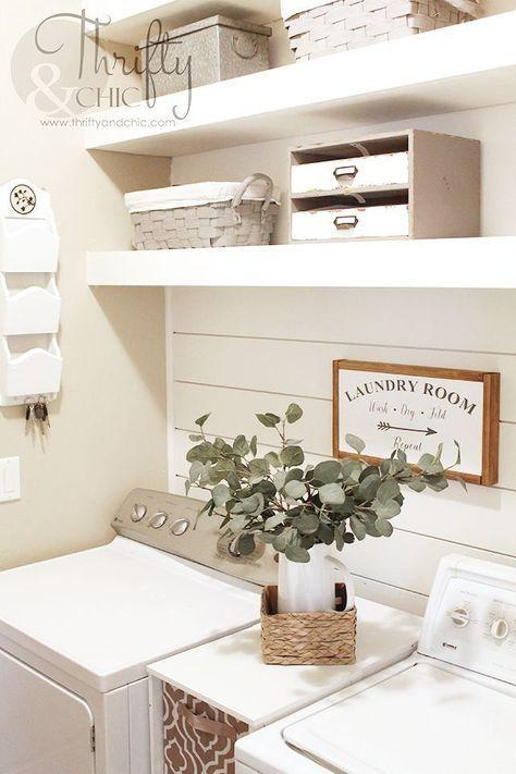 Small Laundry Room Makeover And Organization Ideas Farmhouse