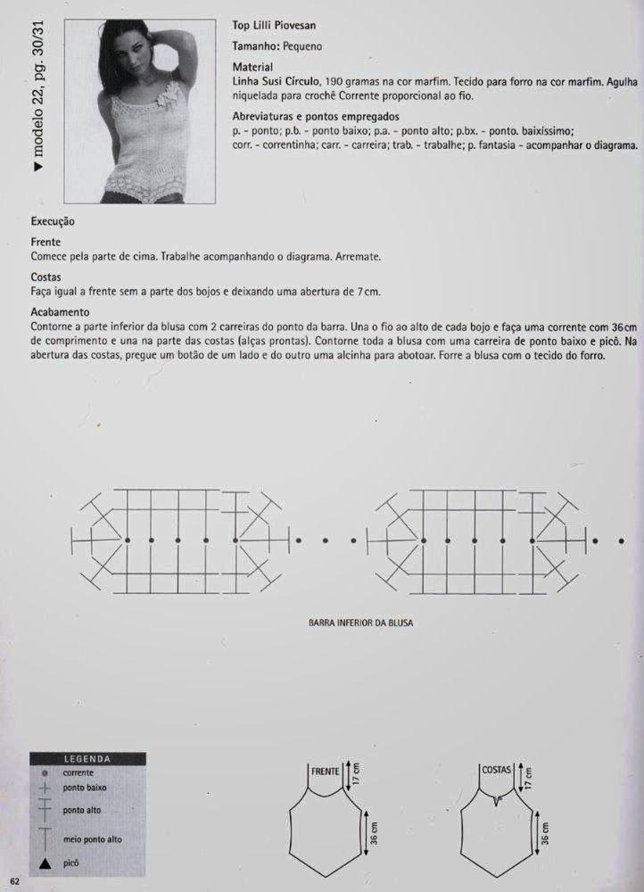 Top terminacion en pico Patron - Patrones Crochet | TOPS DE MI LOVE ...