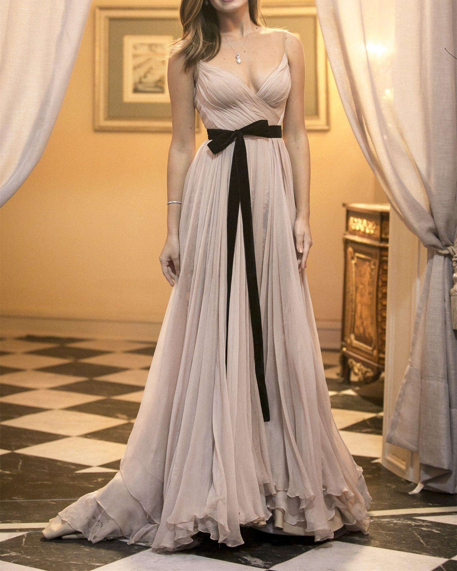 ef3dd8c277b Popular Chiffon Pleated Long Prom Dress