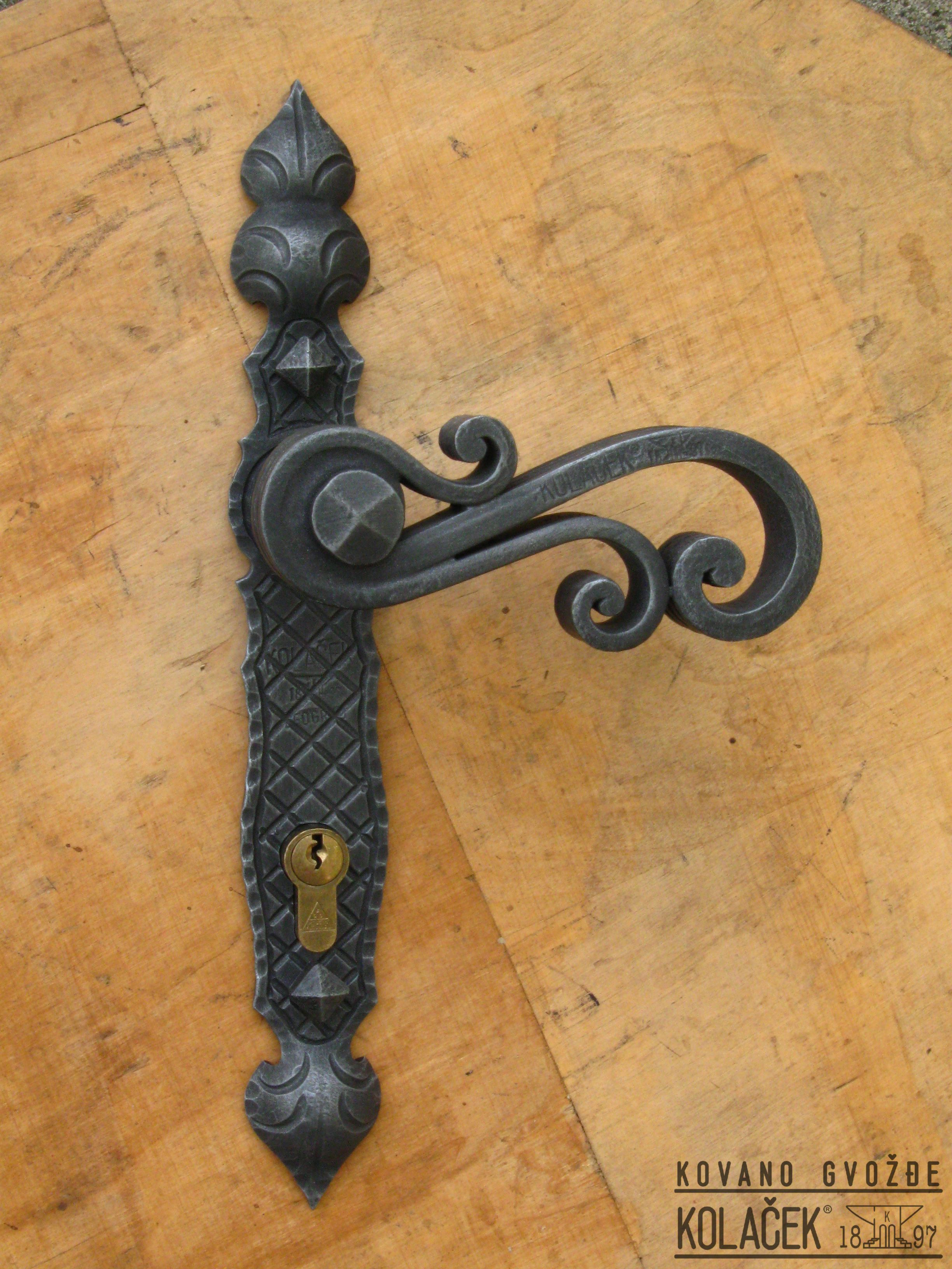 Door Handle Wrought Iron Kolacek 1897 Kovano Gvoždje