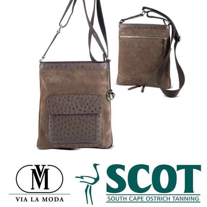 a4428c093b02e5 This great Rambo rouged ostrich leather shoulder bag for men from Via La  Moda. #ostrich #ostrichleather