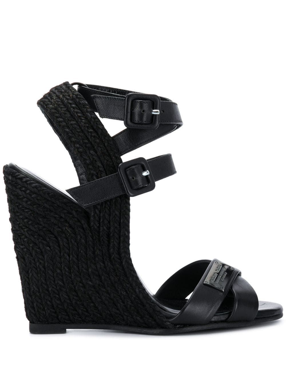 High wedge sandals | Wedge sandals, Leather wedge sandals