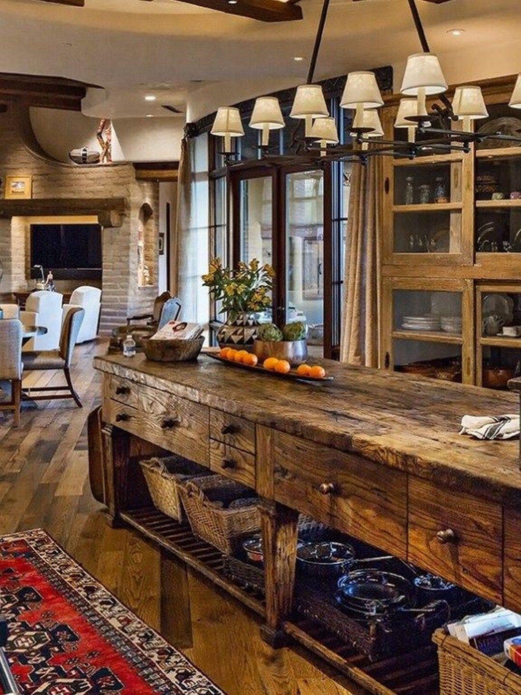 35+ Rustic Farmhouse Style Interior Decor Ideas That ...