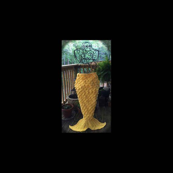 Mermaid Tail Blanket Sunshine by MerMommaShop on Etsy