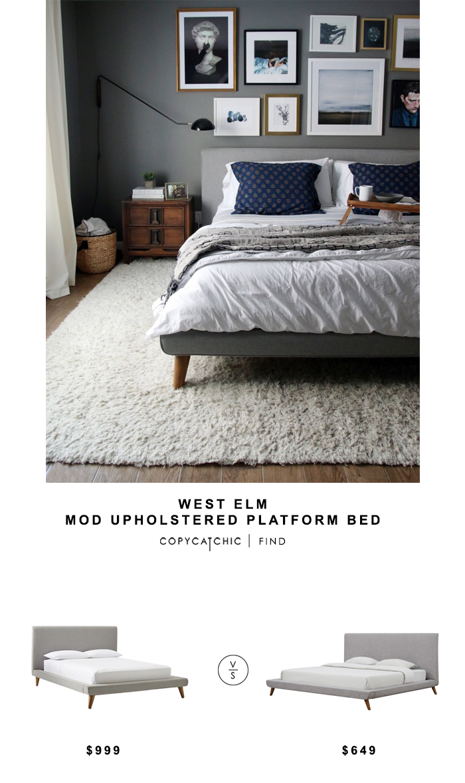 ad62cb8825 West Elm Mod Upholstered Platform Bed for $999 vs Tov Furniture Nixon Linen  Bed for $649