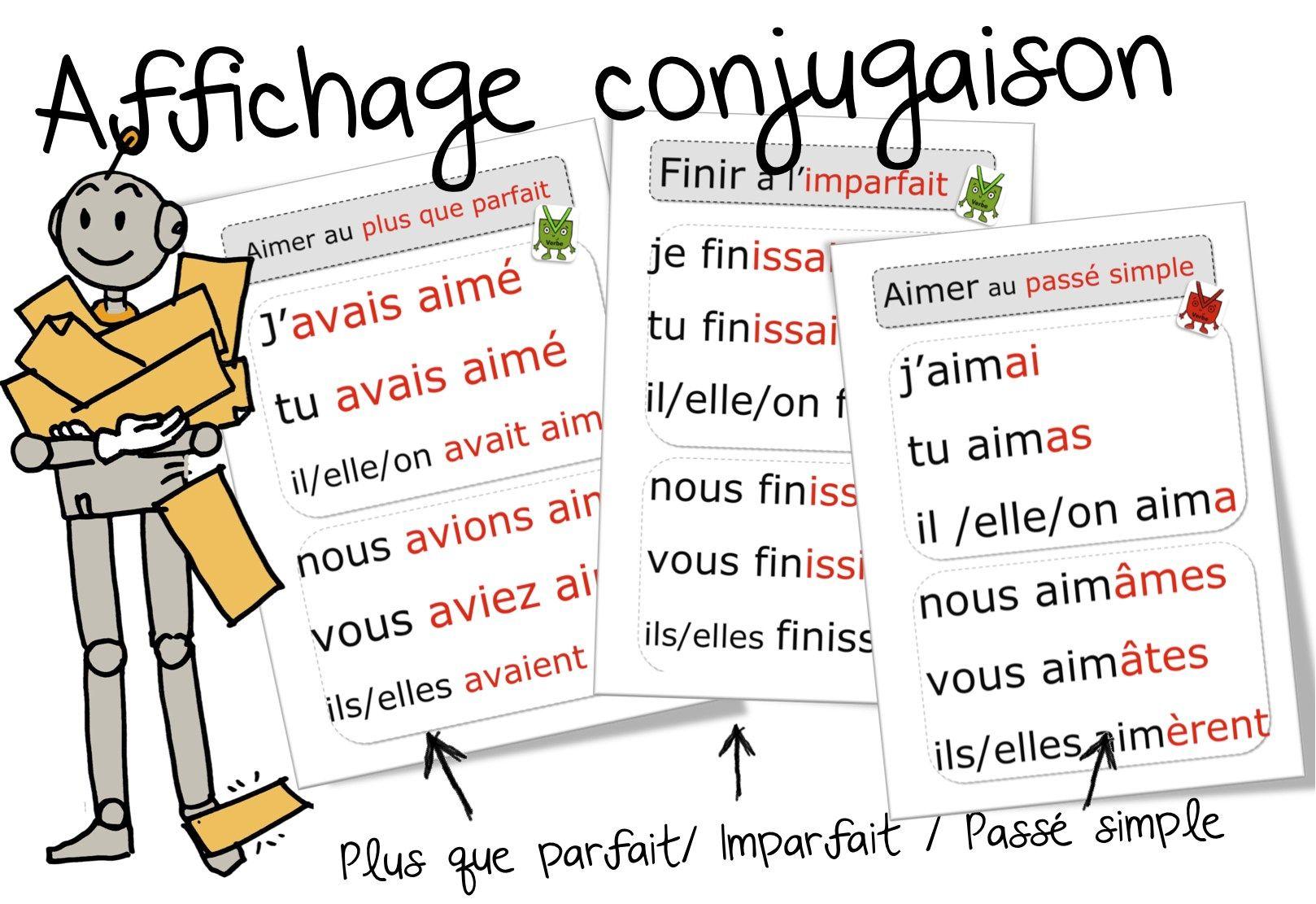Les Affichages Conjugaison Pour Le Cycle 3 Passe Simple Imparfait Plus Que Parfait Voici Toutes Les Affiches Conjugaison P Conjugaison Cm2 Conjugaison Ce2 Ce1