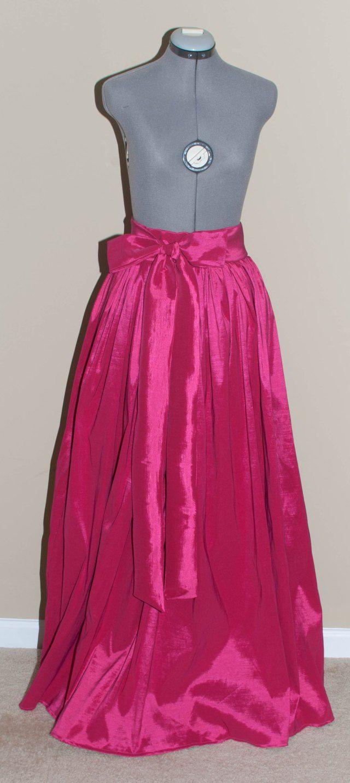 The Ball Gown Skirt DIY: Taffeta Maxi Skirt | Ball gowns, Sewing ...
