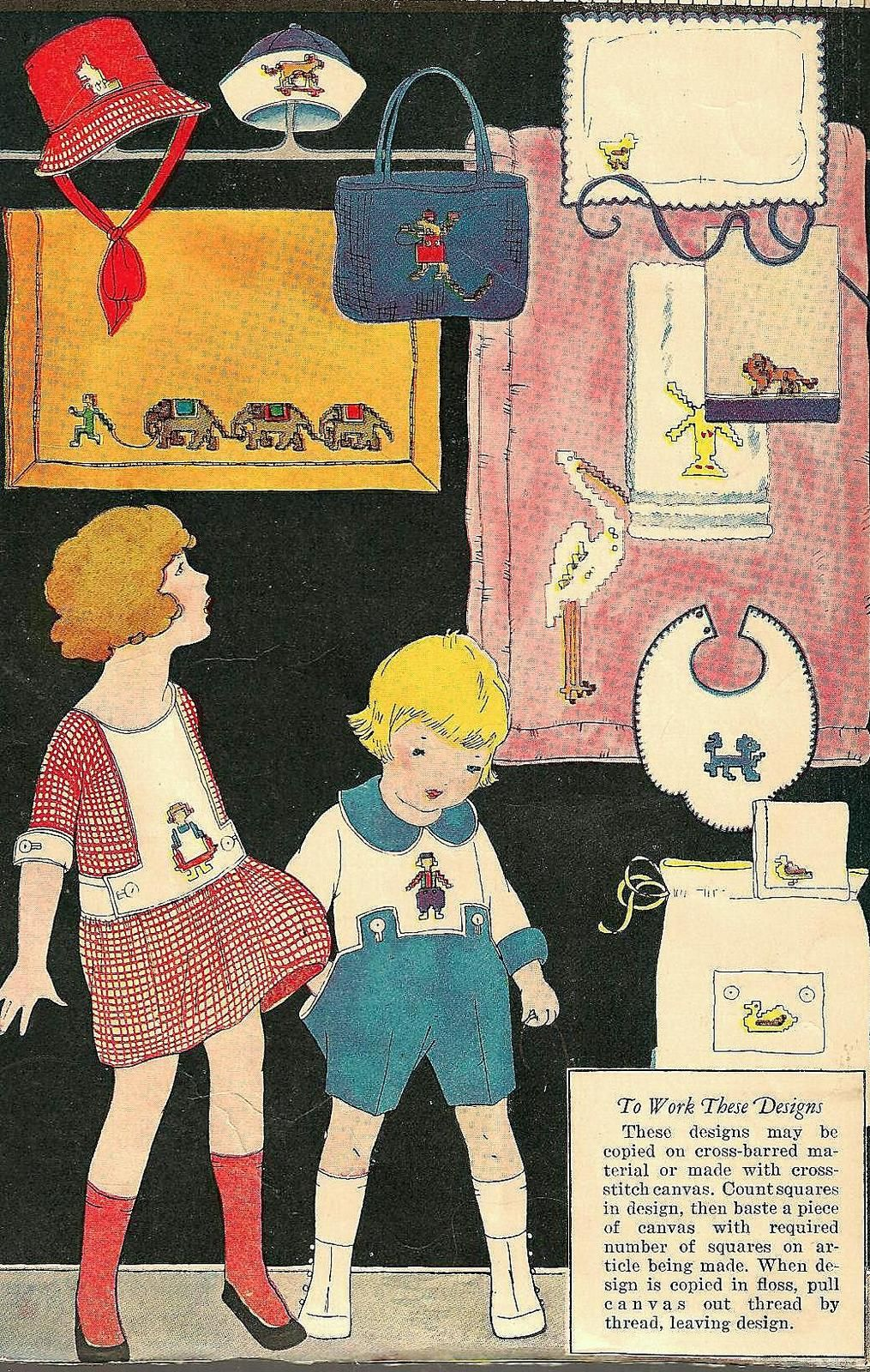 bumble button: Free Clip Art and Images 1920 1930 Aprons Cothing Dollhouse Children's Book Illustrations