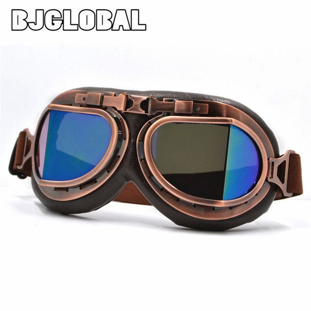 c3fa2f13 BJMOTO 2016 NEW WWII Vintage Harley style motorcycle gafas motocross moto  goggles Scooter Goggle Glasses Aviator
