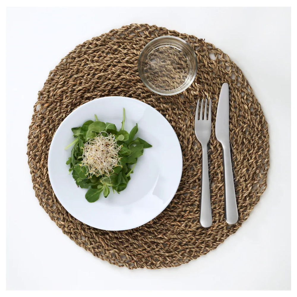 "IHÅLLIG Place mat natural, seagrass 15 "" in 2020 Ikea"