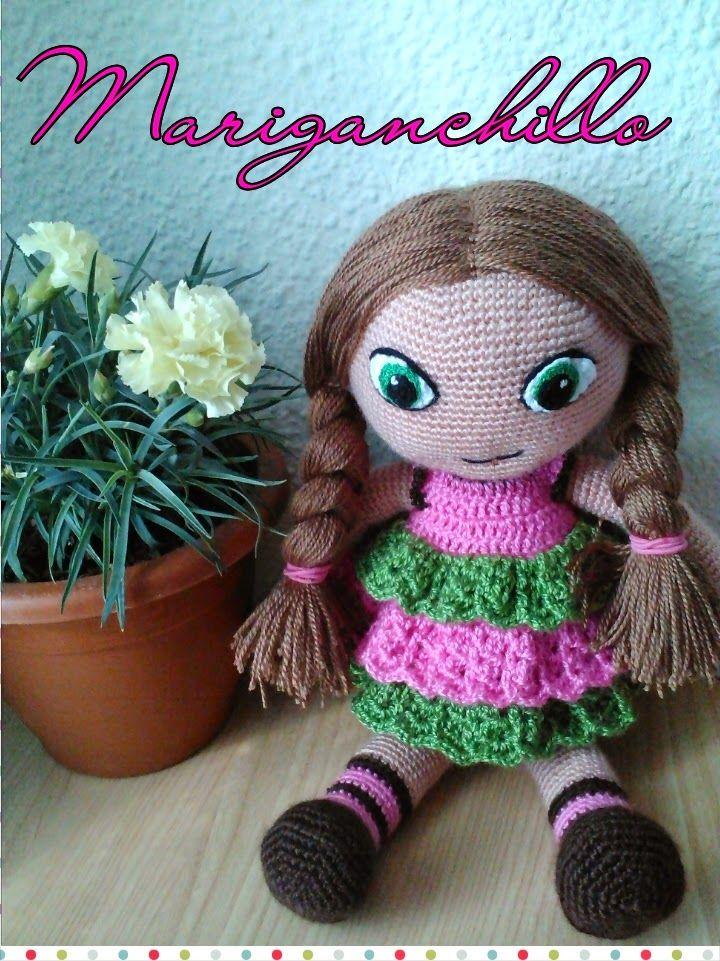 Patrón muñeca Amigurumi | amigurumis | Pinterest | Muñeca amigurumi ...