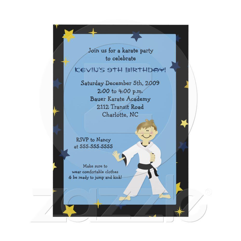 KARATE PARTY Kung Fu Birthday | Karate Party | Pinterest | Karate ...