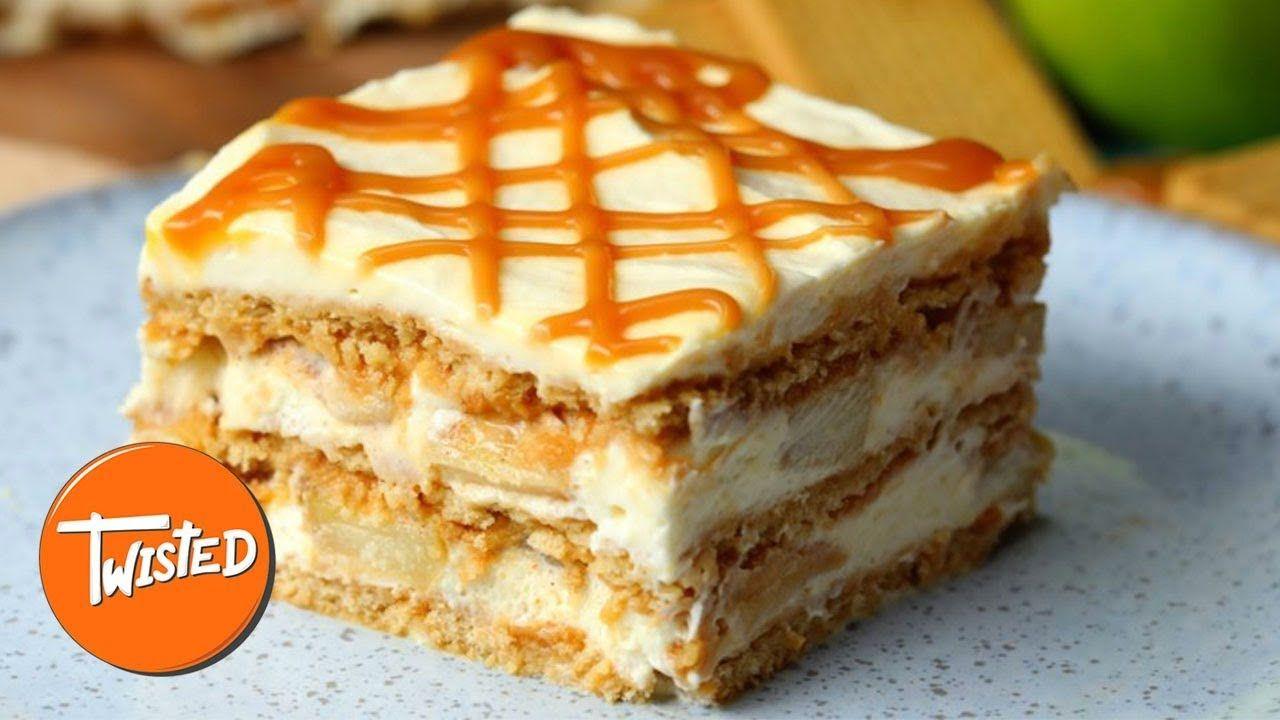 Caramel Apple Ice Box Cake Recipe Twisted Youtube Cakes And