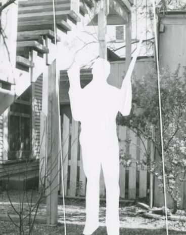 Ghost Oswald indicating photo manipulation. The backyard ...