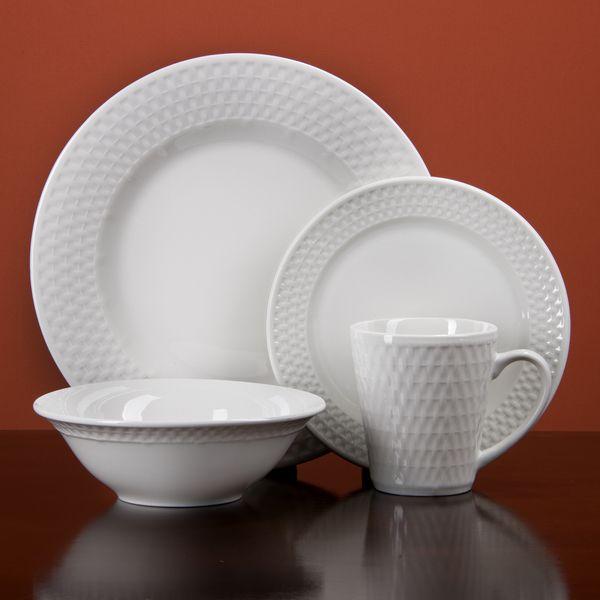Oneida Satin Weave 32 Piece Dinnerware Service For 8 Dinnerware