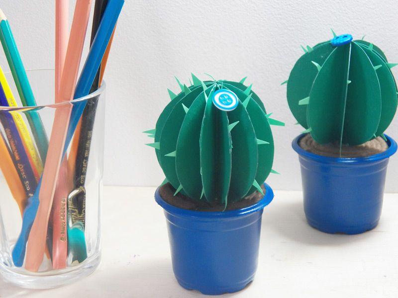 Dica de objeto decorativo: Como fazer cactos de papel  -  Blog Dona Engenhosa