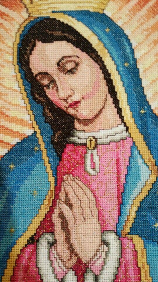 Virgen de Guadalupe bordada por mi