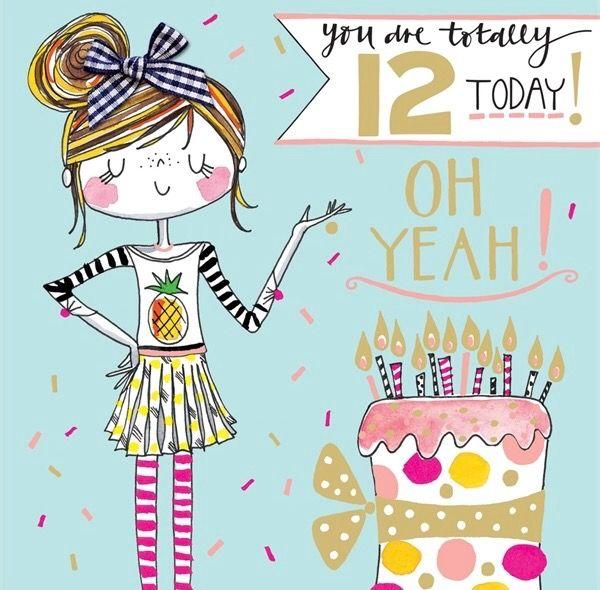 12 Today Rachel Ellen Happy 12th Birthday Happy Birthday Kids 12th Birthday Girls