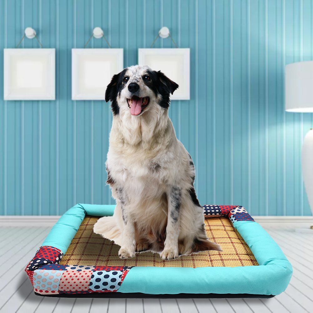 Foerteng Pet Cooling Mat Puppy Comfort Bed Self Cooling Pad Pet Cooler Cold Bed For Different Sizes Dogs And Cats S M L Be Sure To Che Dog Bed Mat Cool Pets