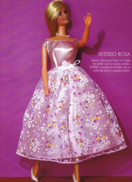 Un coqueto y elegante vestido para nuestras muñecas barbie, para que ...