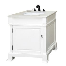 Bellaterra Home 30In X 225In White Rub Edge Undermount Prepossessing 30 Bathroom Vanity With Top Design Decoration