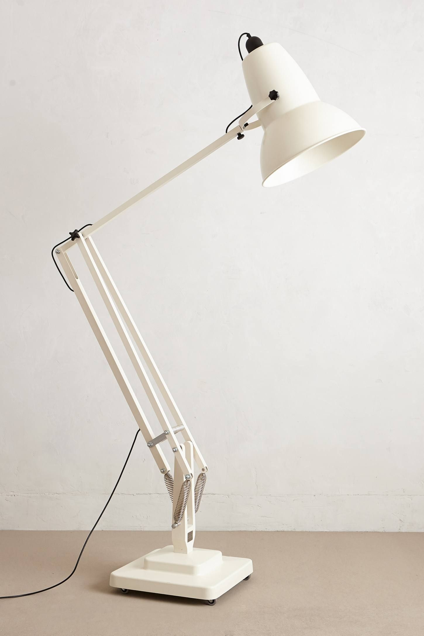 Giant Angle Poise Floor Lamp By Anglepoise Aluminum Stainless Steel 100 Watt Max 118 Cord 105 H 45 W Handmade In Uk Lamparas Proyectos