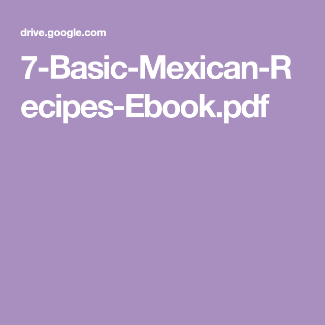 7 basic mexican recipes ebookpdf mexican food for the soul 7 basic mexican recipes ebookpdf forumfinder Choice Image