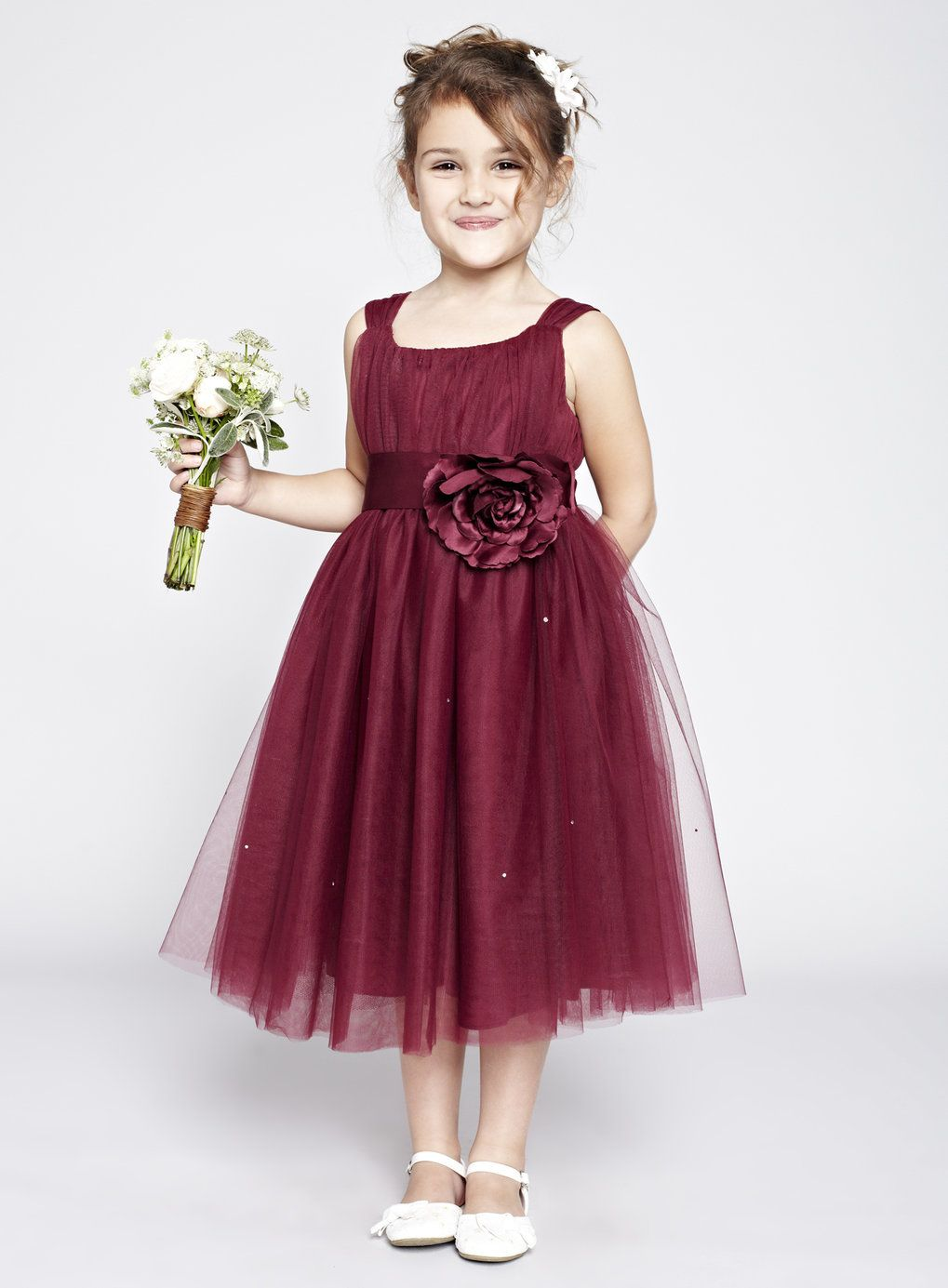 I Think I Want The Flower Girl S In Burgundy I Wanted A