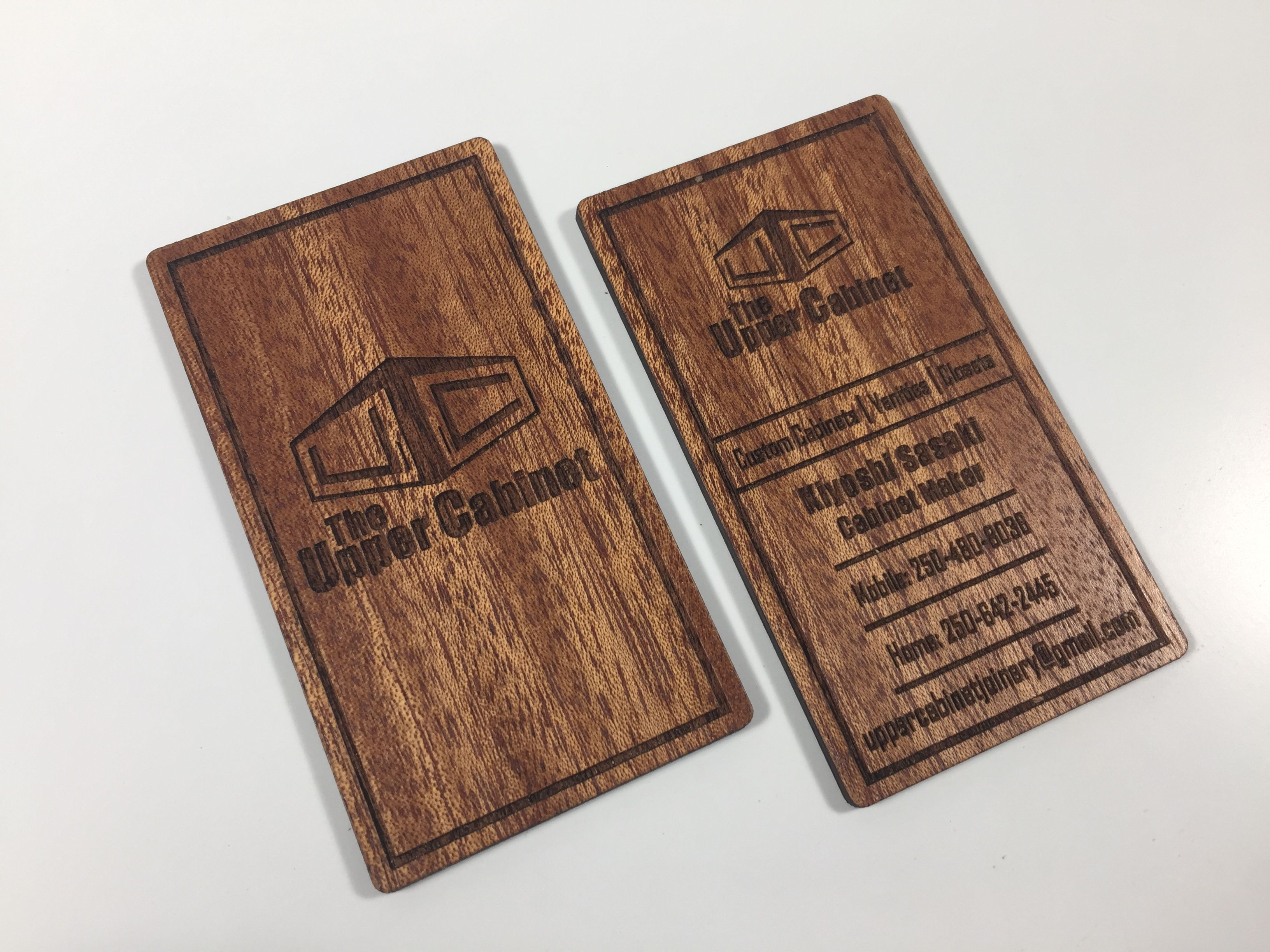 Mahogany Business Cards Double Sided Laser Engraving Wood Business Cards Laser Engraved Business Cards Metal Business Cards