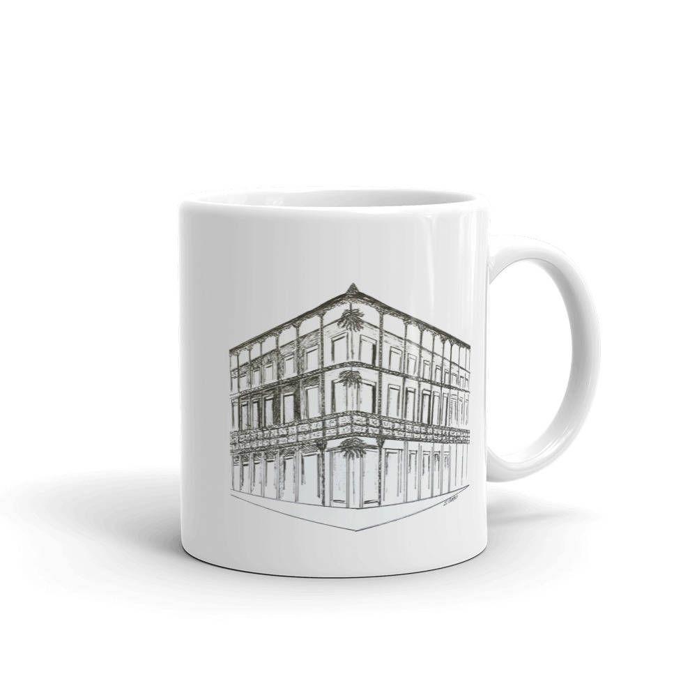 New Orleans Coffee mug, French Quarter coffee cup, Architecture mug ...