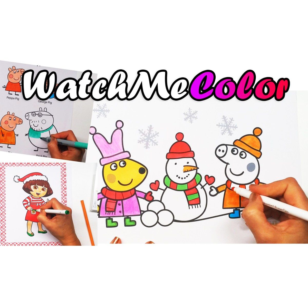 Watch me color Peppa Pig and Dora the Explorer!: And then, color ...