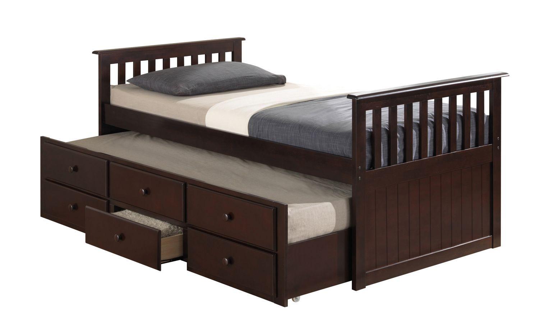 Jugend Betten, Einzelunterschiebebett, Verwandelt Sich In