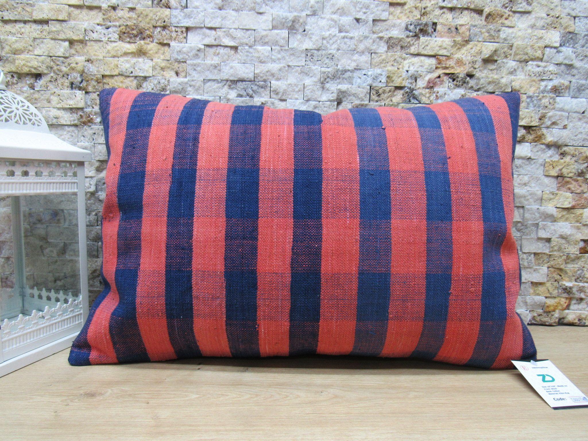 Striped pillow 16x24 turkey pillow handmade pillow sofa pillow asian pillow rustic pillow home decor ethnic pillow floor pillow code 1567