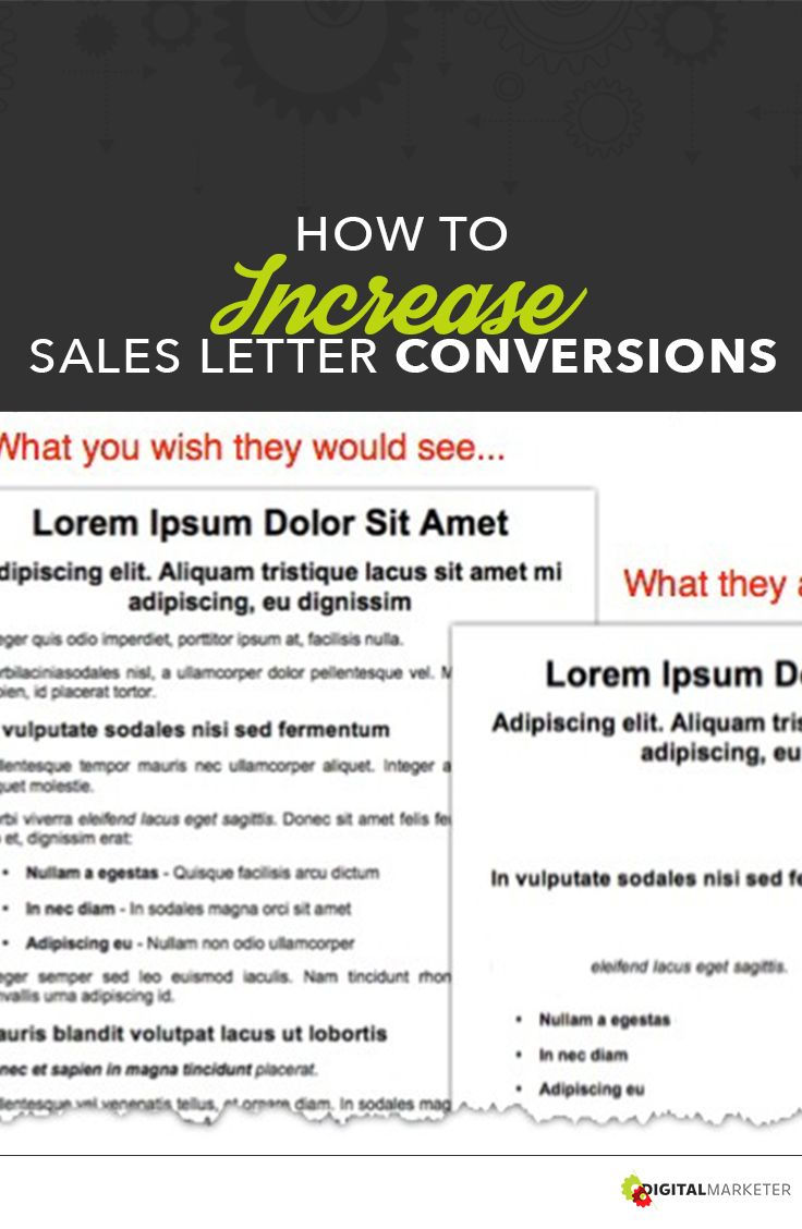 How To Increase Sales Letter Conversions Digitalmarketer Com
