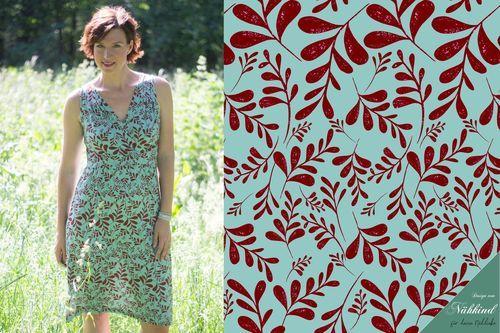 Viskose-Jersey Sofia hellblau-tiefrot | Formelle kleider ...