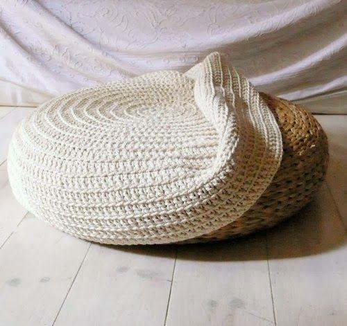 customiser son pouf ikea d co appart crochet stool covers et crochet pouf. Black Bedroom Furniture Sets. Home Design Ideas