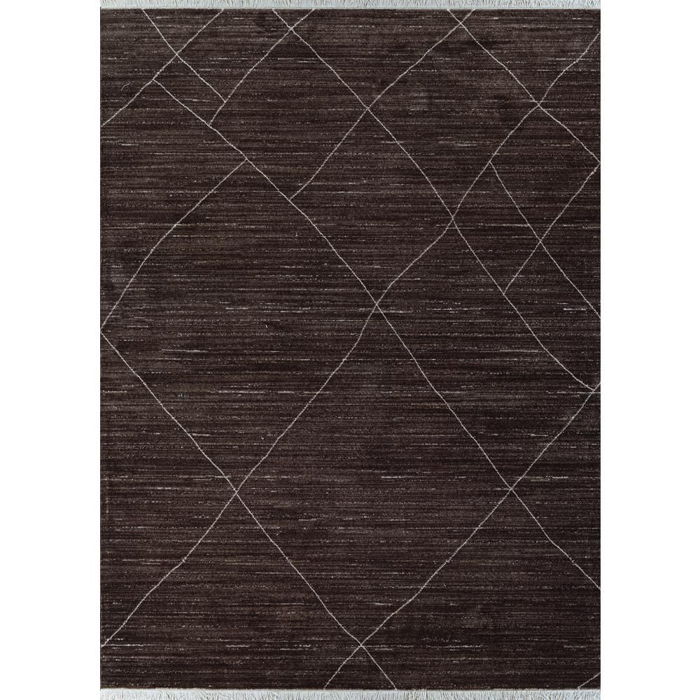 Couristan Bruges Diamante Chocolate Brown 3 Ft 11 In X 5 Ft 6 In Area Rug Area Rugs Rugs Wool Area Rugs