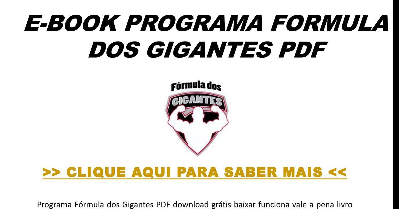 E Book Programa Formula Dos Gigantes Pdf Pptx E Book Download