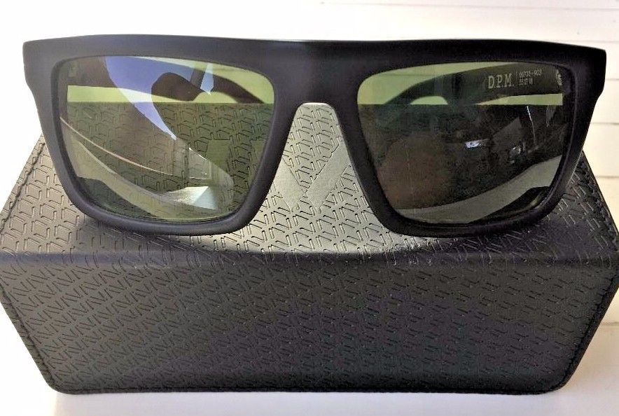 a236dd4ba8 Rare IVI Sepulveda Black Matte Army Camo Rectangular Sunglasses Double Horn   IVI  Rectangular