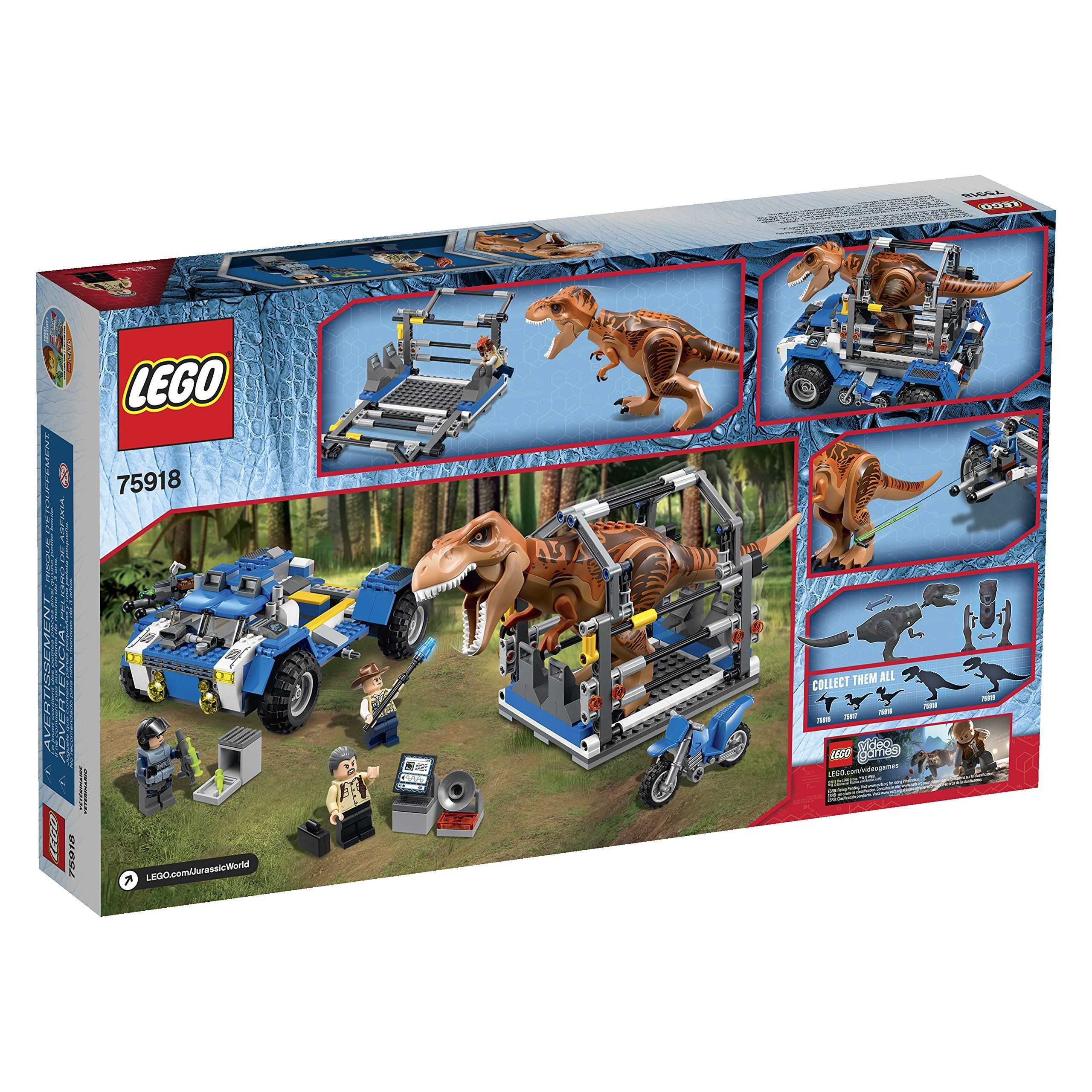 Lego Jurassic World T Rex Tracker 75918 Building Kit Lego Jurassic World Lego Jurassic Lego