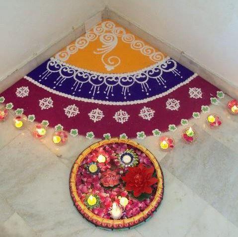 Simple Diwali Rangoli Designs | Diwali decorations ...