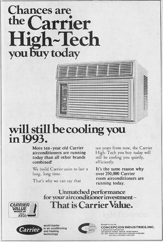 Carrier Air Conditioner. From May 1983 issue of Reader's