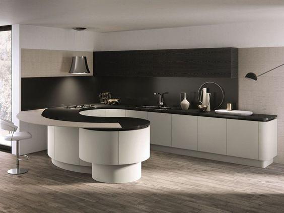 DOMINA Küche mit Halbinsel by Aster Cucine Design Lorenzo Granocchia - küche mit bar