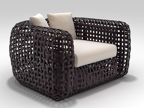Matilda Easy Armchair Matilda, Armchairs and 3d - balou rattan mobel kenneth cobonpue