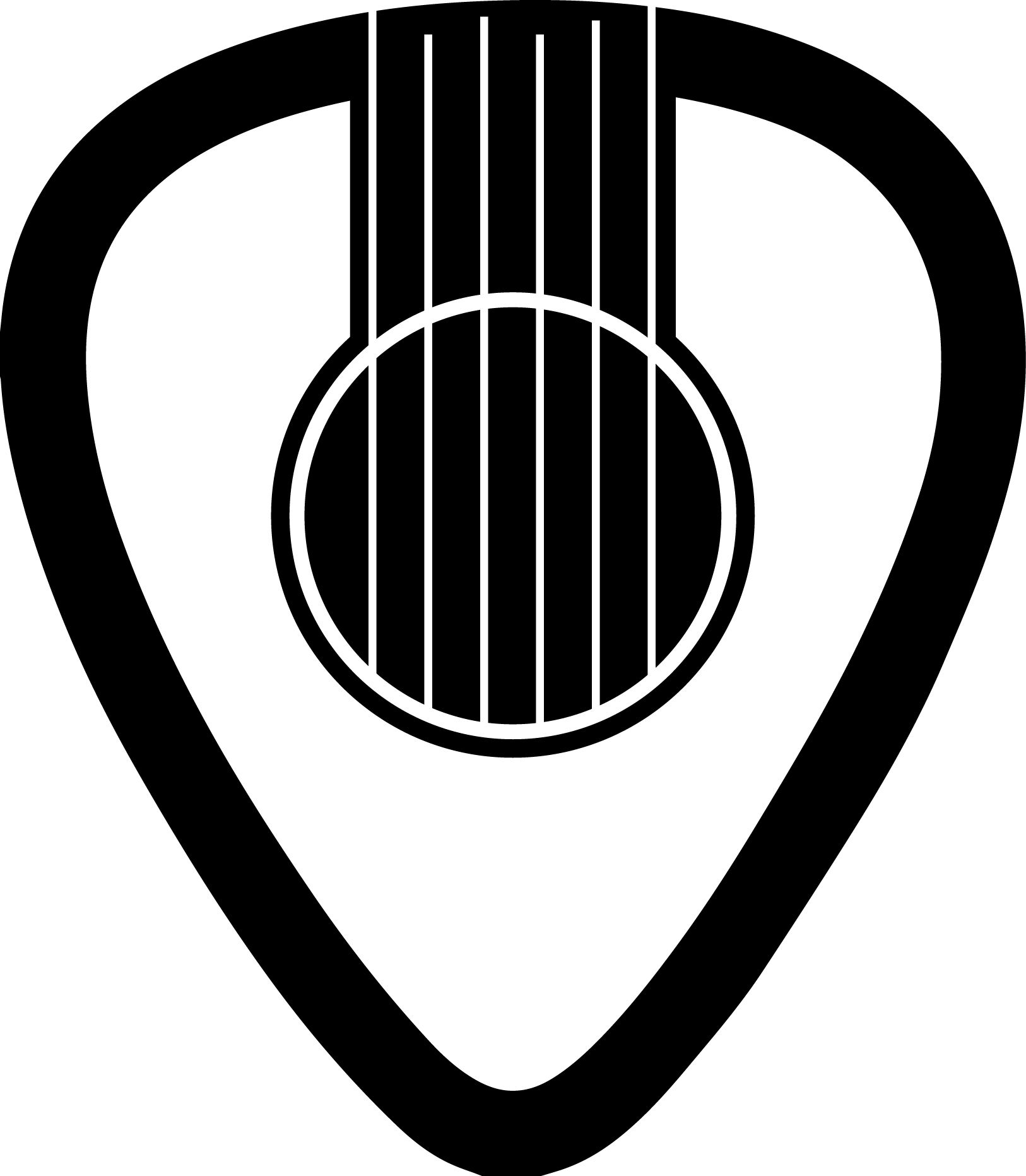 Guitar Pick Sound Hole Tattoo
