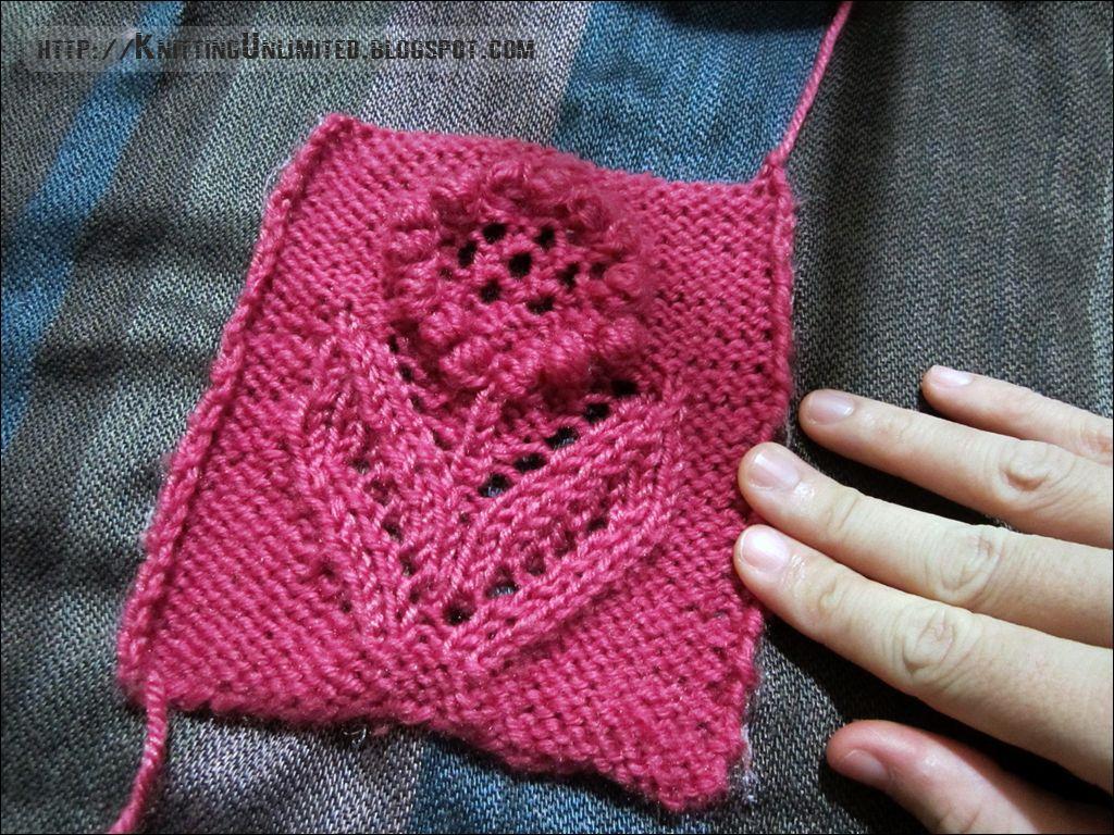 Glory Flower Stich Pattern - Knitting Unlimited | Knitting ...