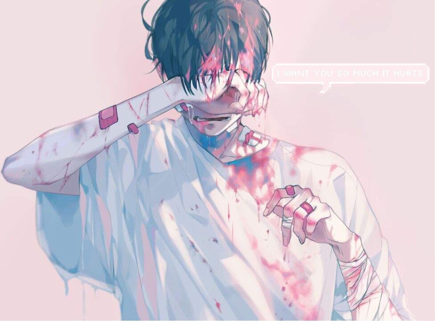 Image Result For Bruises Aesthetic Boy Anime Boy Crying Aesthetic Anime Bruises Aesthetic