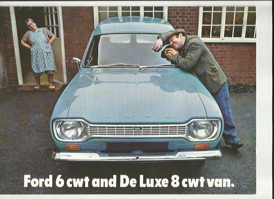 Ford Escort  Cwt And De Luxe  Cwt Vans Sales Brochure   Van
