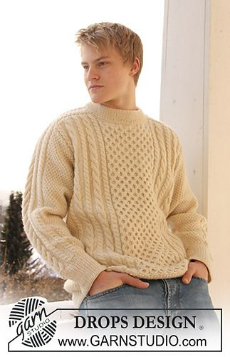 Free Pattern For Classic Saddle Shouldered Crew Neck Cabled